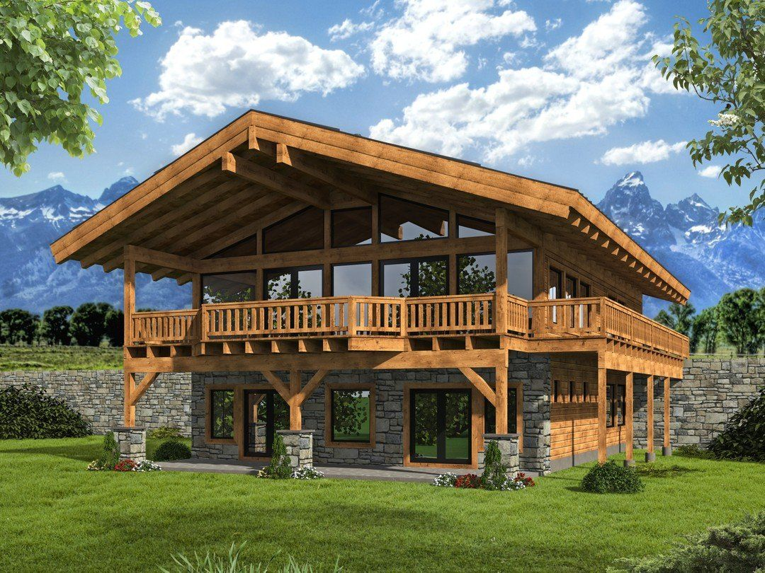 Hpm Home Plans Home Plan 001 3700 In 2020 Mountain House Plans House Plans Mountain Home