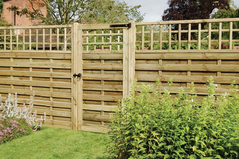 A Decorative Gate For Use With The Montreal Fence Panel Range. With A Decorative  Lattice Top And Sturdy Mortise And Tenon Jointed Frame.