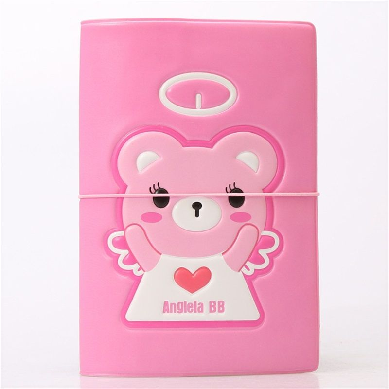 Cartoon Angel BB bear Card Holder Passport Cover PVC Leather 3D ...