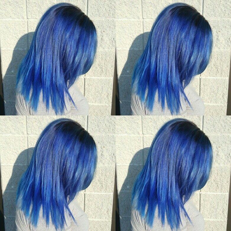 Hair By Me Hairbyjade Halosalon Alfaparfmilano Revolution Trueblue Hair Long Hair Styles Hair And Nails