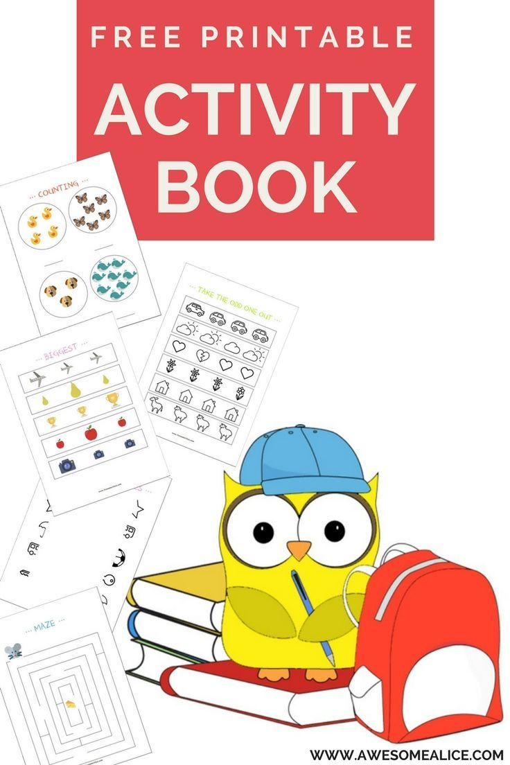 Free Printable Activity Book Learn Numbers Letters Sizes And Much More Free Printable Activities Book Activities Owl Activities