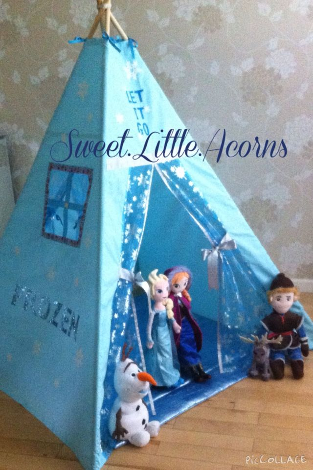 Love my teepee uku0027s leading handmade bespoke and personalised childrens teepee tents. Toys cushions play mats for boys and girls. & FROZEN PRINCESS TEEPEE ICE BLUE SPARKLING SNOWFLAKE MAGICAL CASTLE ...