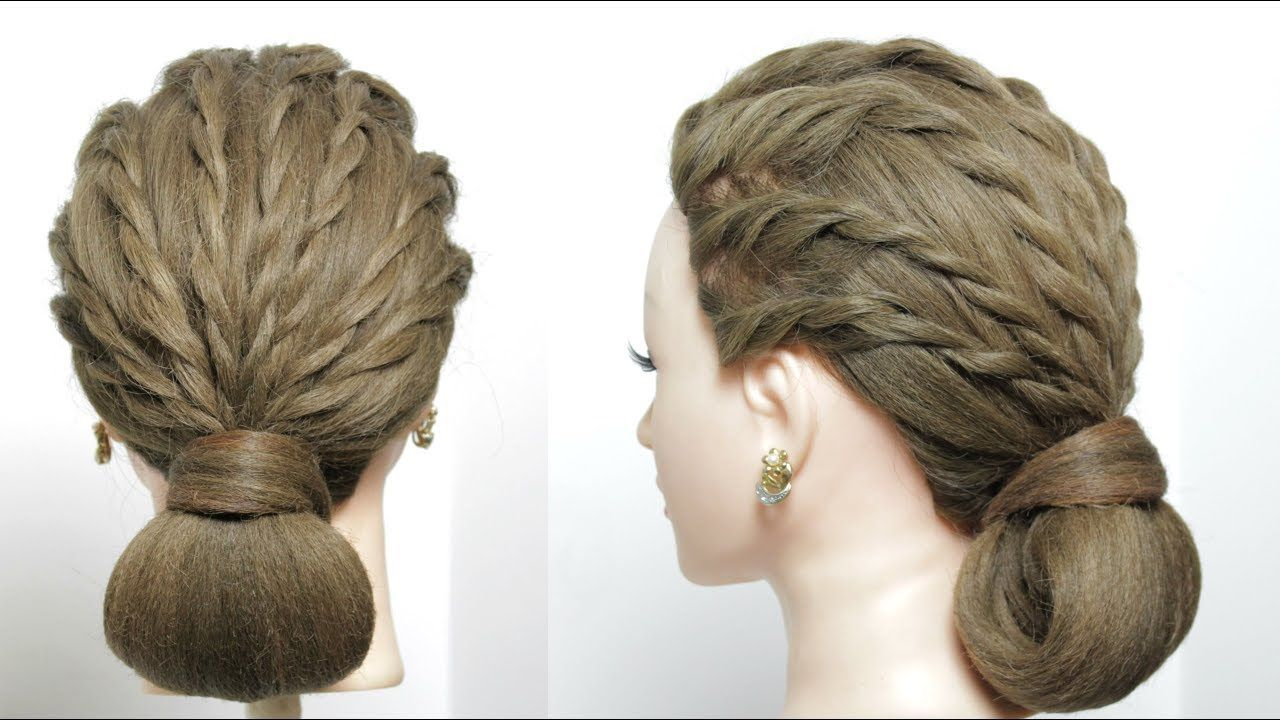 Easy u simple party hairstyle updo for long hair tutorial makeup