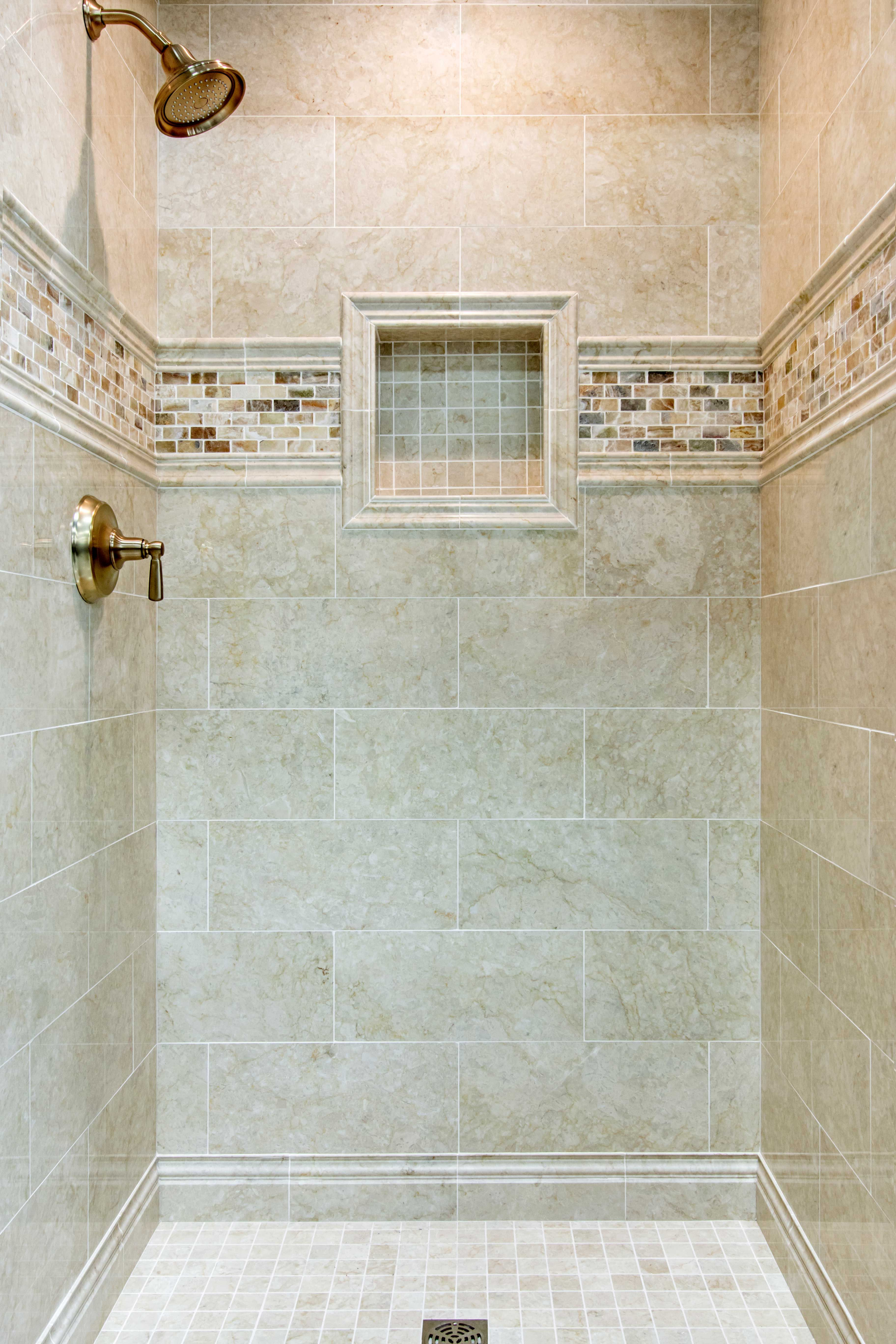 Embrace the warm aesthetics in your bathroom shower tile - Avorio ...