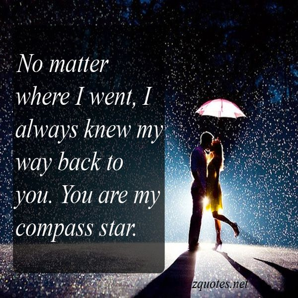 No matter where I went, I always knew my way back to you. You are my compass star