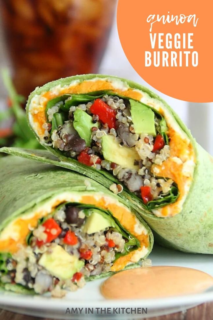Quinoa And Veggie Burrito