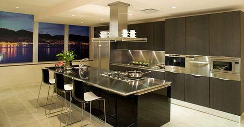 cocinas-modernas-negras Decoración del hogar Pinterest Kitchens