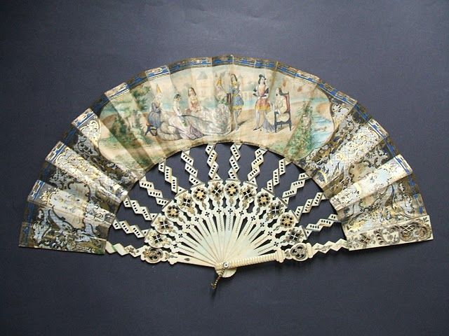 1850, 1855 hand fan