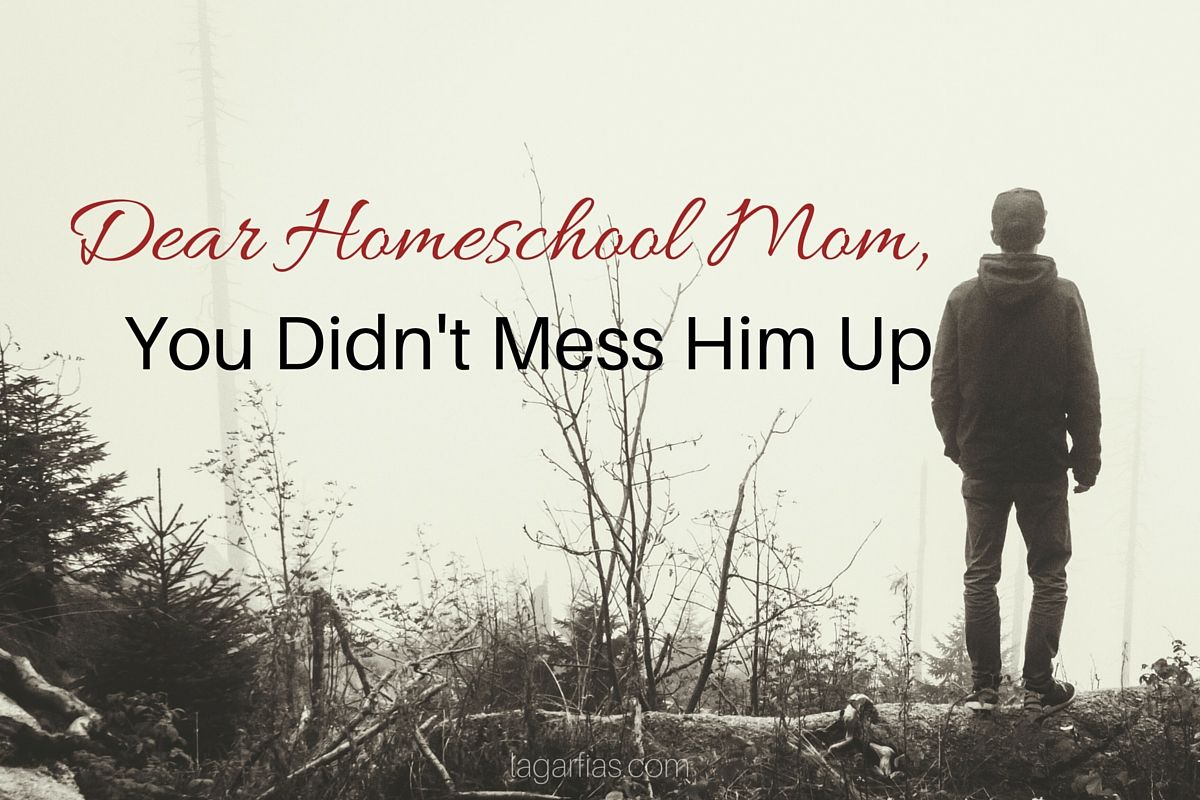 Dear Homeschool Mom You Didn T Mess Him Up