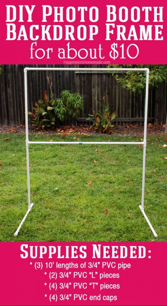 DIY Photo Booth Backdrop Frame - for around $10! | fotos | Pinterest ...