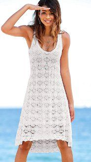 crochet beach dress in white ~ victoria's secret ~ $79.50