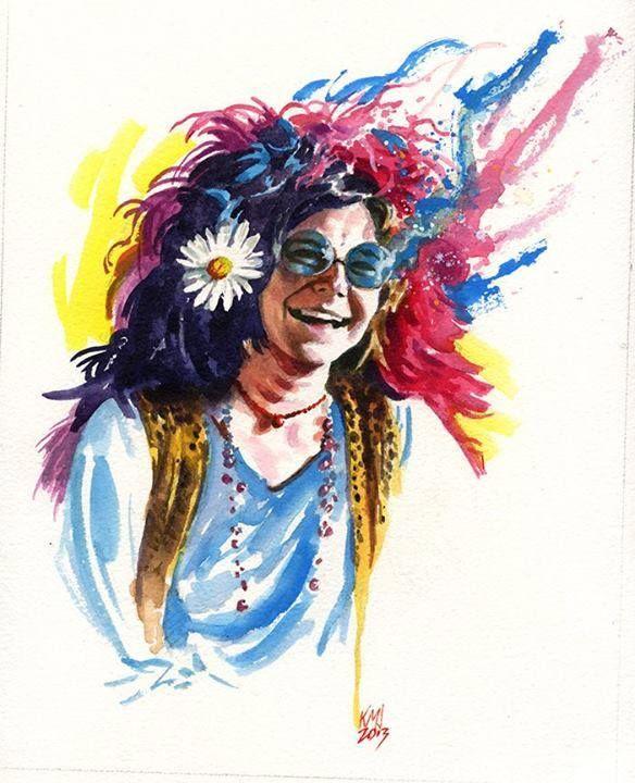 Janis Joplin By Ken Meyer Jr Janis Joplin Joplin Rock N Roll Art