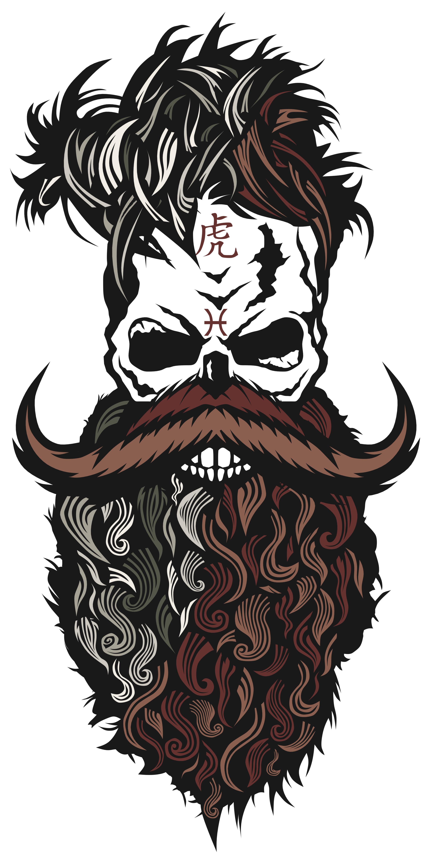 c3c392830 Tee-shirt tete de mort hipster crane skull barbu | logo in 2019 ...
