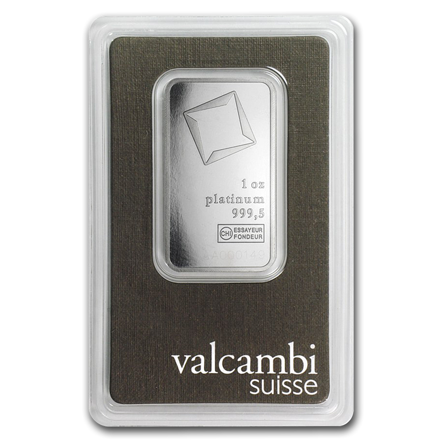 1 Oz Valcambi Platinum Bar Platinum Bullion Cards