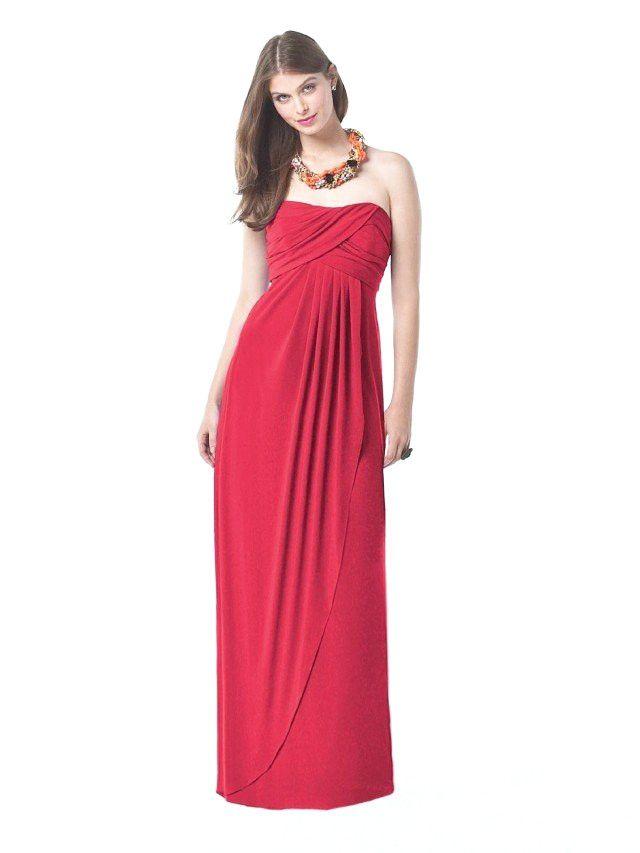 Schöne und romantische rote lange Kleider für ...