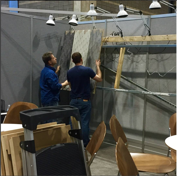Setting up our space for #coverings2016.