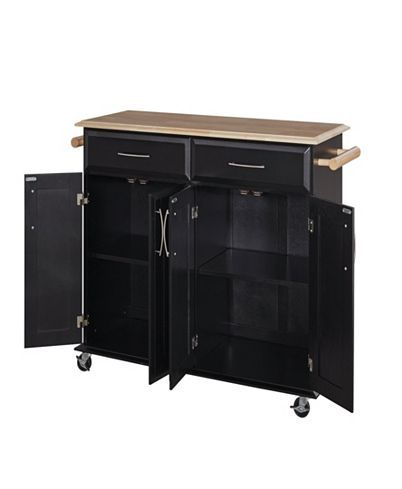 dolly madison kitchen island cart home styles dolly madison black island cart reviews furniture macy s wood kitchen island 9902