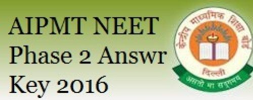 AIPMT NEET Phase 2 Answer Key-Question Paper Solution