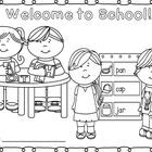 Perfect for the 1st Day of School! Coloring Sheet for K