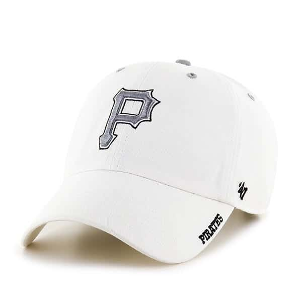 best service 0a4d6 3c613 Pittsburgh Pirates 47 Brand White Ice Clean Up Adjustable Hat