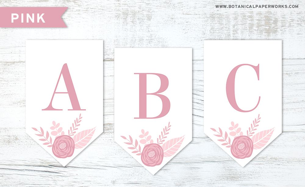 photo relating to Printable Seeded Paper named no cost printable Floral Letter Banners Developed with Seed Paper