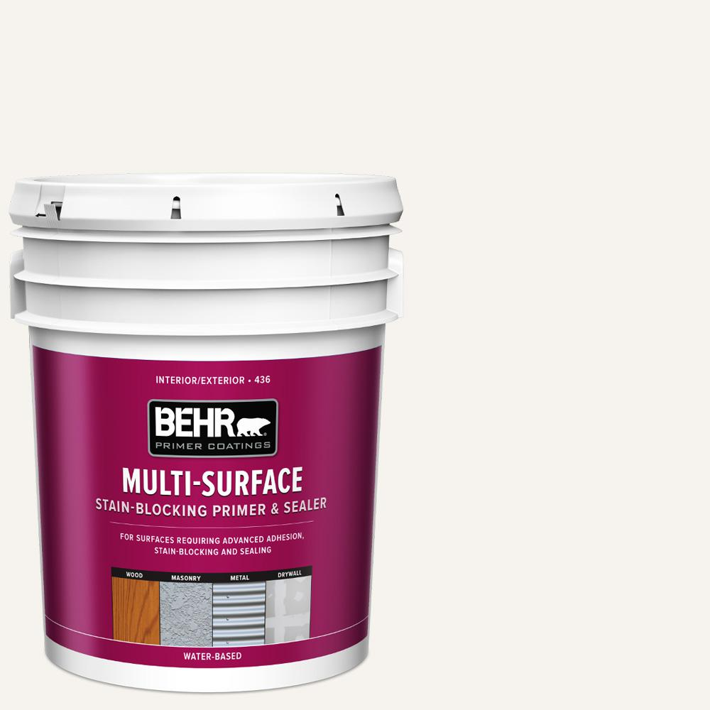 BEHR 5 Gal. White Acrylic Interior/Exterior Multi-Surface
