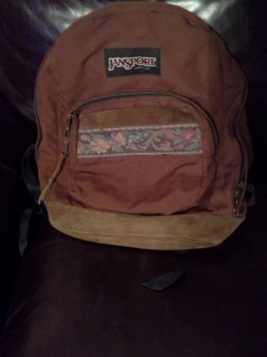 Vintage Jansport Backpack Brown Vintage Floral Canvas Vintage