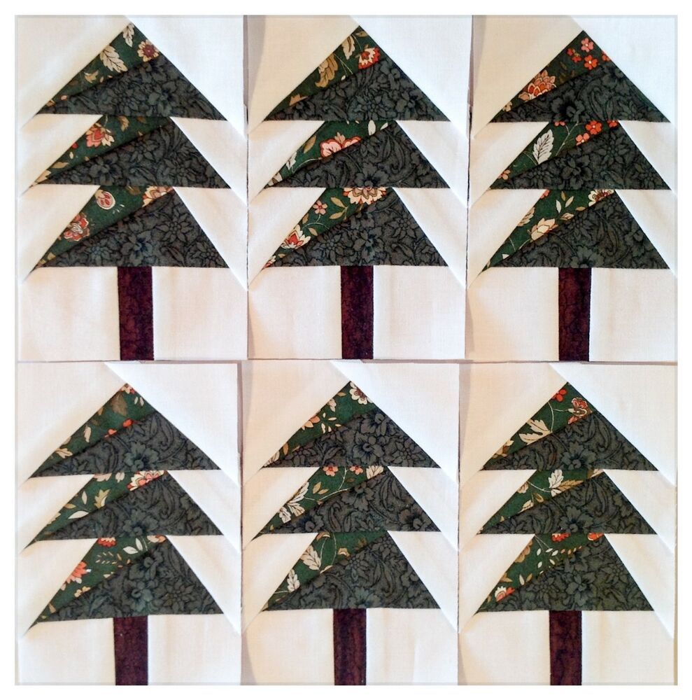 "Paper Pieced Christmas Tree Pattern: 5 1/2"" Scrappy Trees 🌲🌲🌲paper"