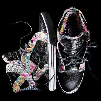 c2ee610bb943 Dope  Floral  Skytops  Supra  Footwear  Black  Wax  Cute  Womens ...