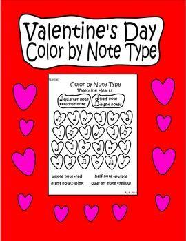 valentinesdaycolorbynotetypemusicnotecoloringpage1pdfprintable musicvalentinedaycoloringactivitycolorbynotetypeworksheetquarter note