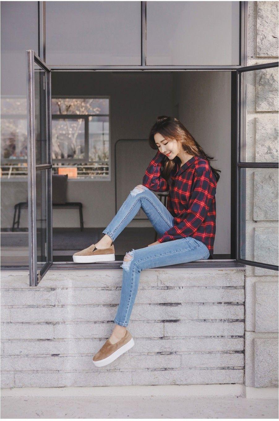 Skinny jeans  Korean street fashion, Fashion, Korean fashion trends