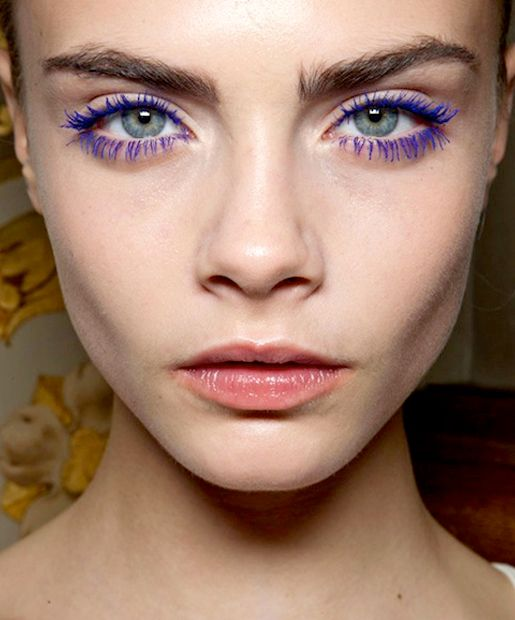 Cara Delevingne. 7 Colored Mascaras To Try This Summer (Theyre Officially a Thing Again)