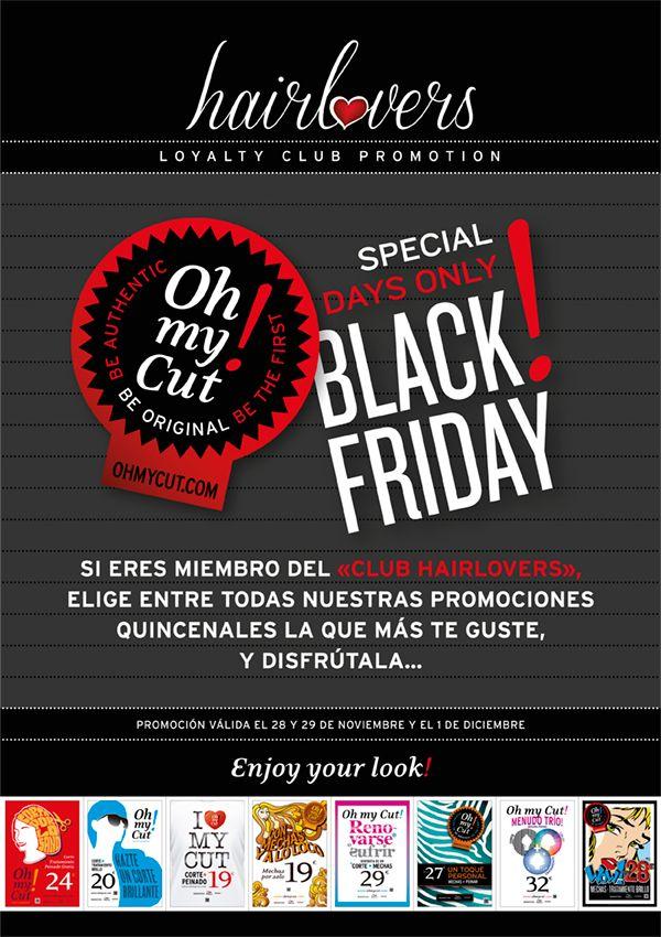 Promoción Black Friday en Oh my Cut! sólo 28 y 29 de noviembre y 1 de diciembre... Wow!   Accede a nuestro blog e infórmate de todos los detalles www.ohmycut.com/hairlovers-llega-el-black-friday-a-oh-my-cut-are-you-ready/