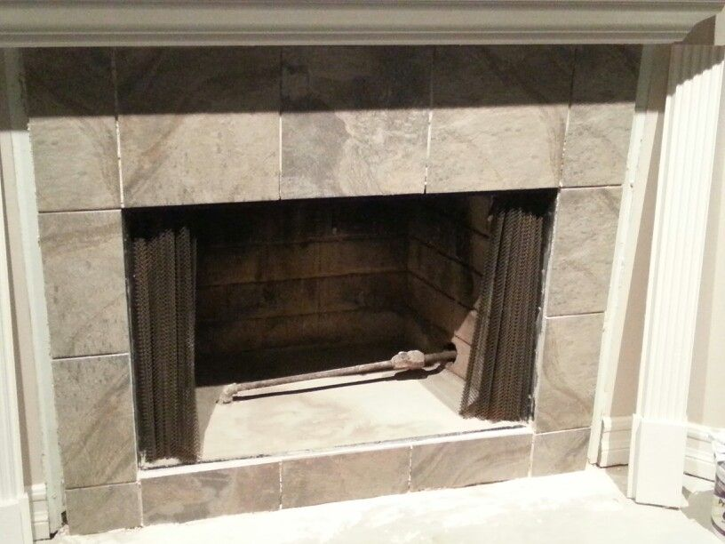 Step 7 Of Renovating Old Fireplace After Taping And Tarping Off