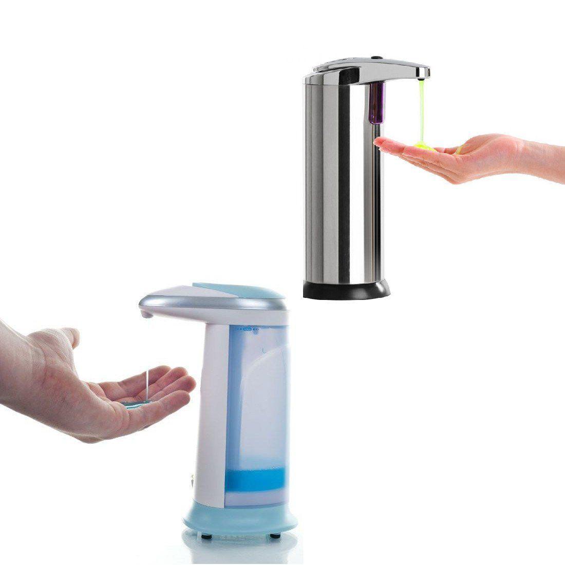Combo touchless motion sensored steel soap dispenser