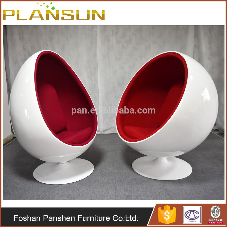 Replica Modern Designer Furniture Eero Aarnio Fiberglass Egg Shaped Oval  Eye Ball Chair