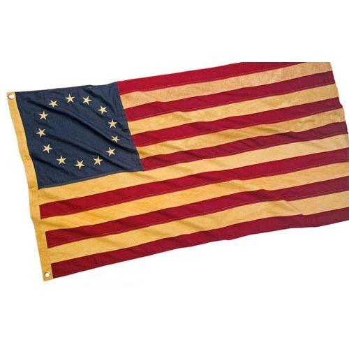 Revolutionary War Style Antiqued 13 Star Flag Revolutionary War War Flag Daughters Of American Revolution
