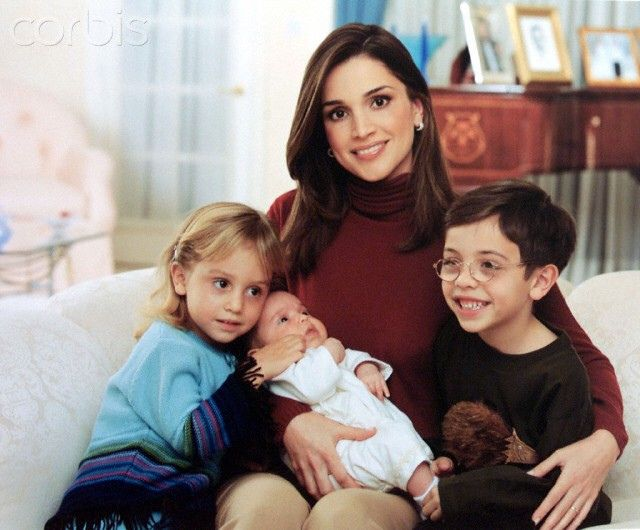 Queen Rania Prince Hussein Princess Iman Neewborn Salma Queen Rania Jordan Royal Family Iman