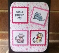 Purrfect card - simple cat card made using the free Cricut Craft Room Basics cartridge.
