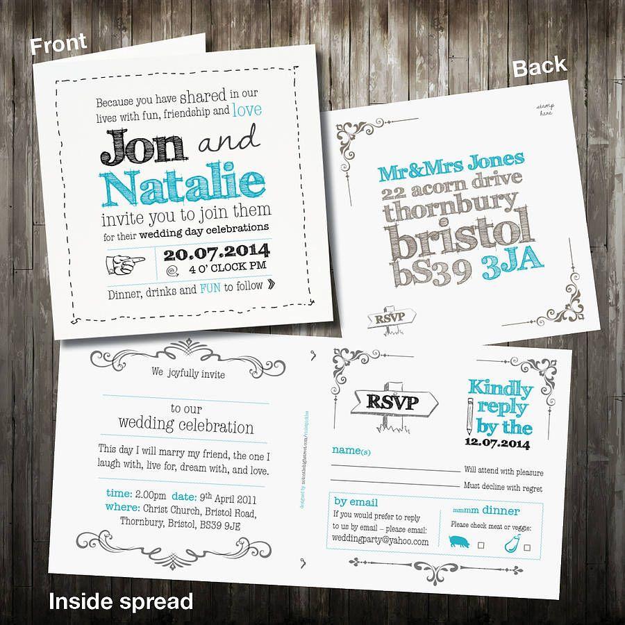 original wedding invitations | File Name : original_personalised ...