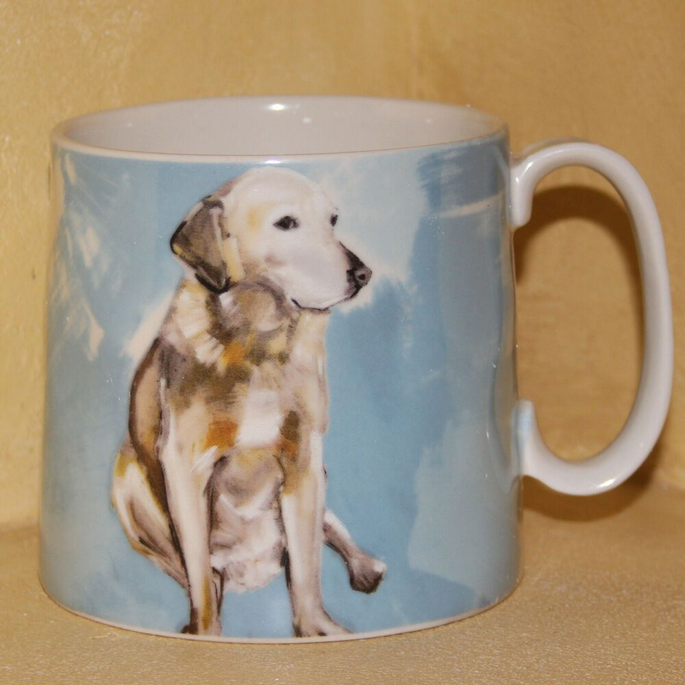 Anthropologie Dog A Day Mug Yellow Lab Retriever Sally Muir Cup