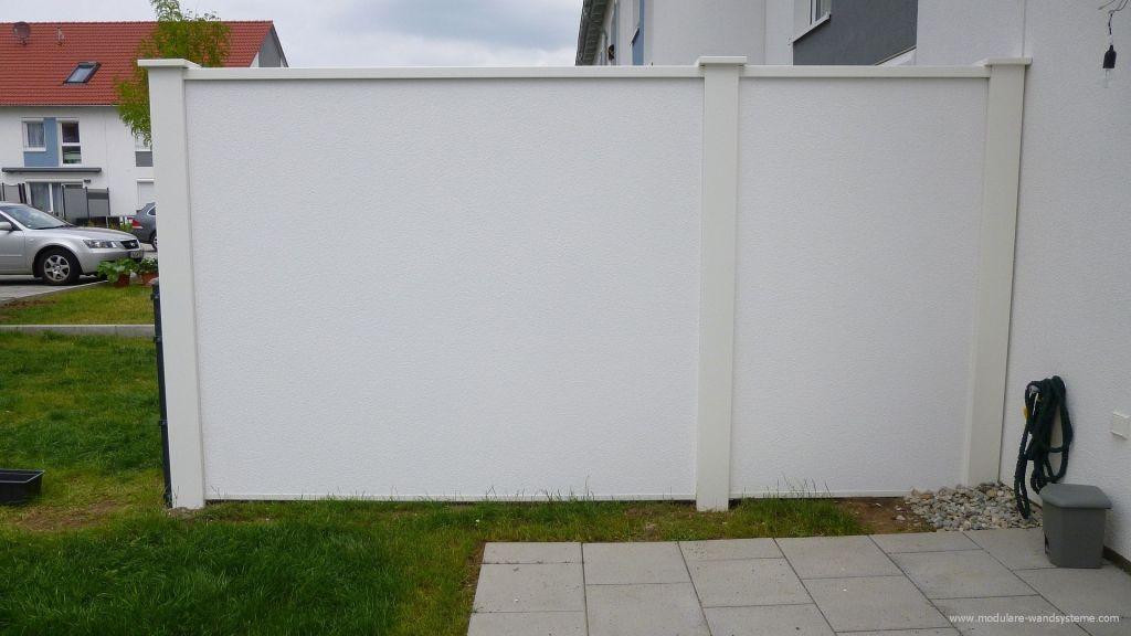 Sichtschutz Windschutz für die Terrasse gartenmauer Pinterest