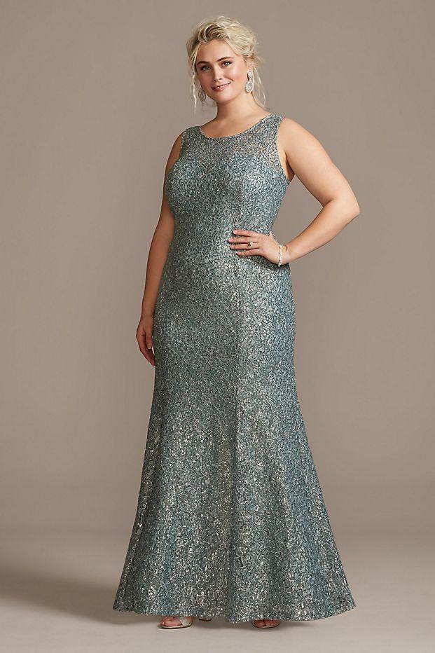 Crystal ColdShoulder Capelet Plus Size Dress Set in 2020