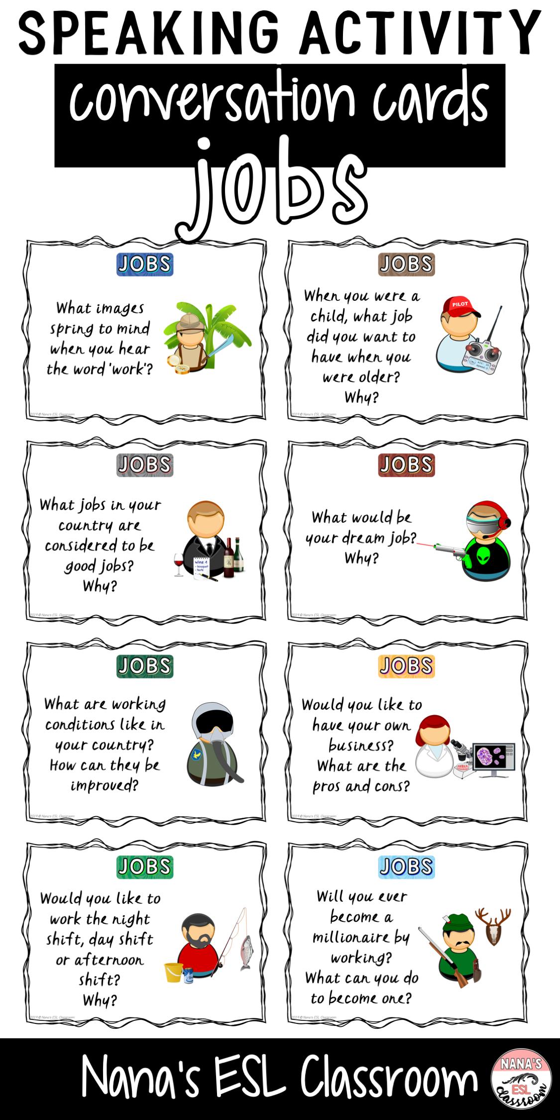 Conversation Starters About Jobs 英語の指導 教育