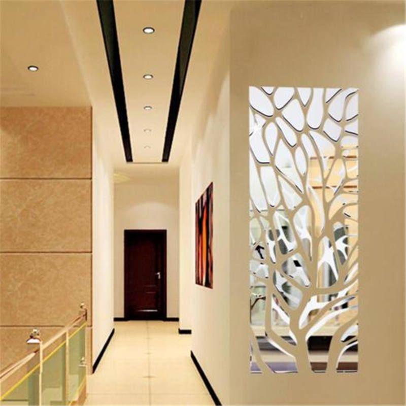 3d Mirror Acrylic Modern Geometric Home Acrylic Decorative Mirror Art Diy Wallpaper Home Living Room Wall Decor Silv Mirror Wall Decor Mirror Wall Mirror Decor