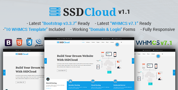 SSDCloud | Multipurpose Hosting with WHMCS and Technology Business ...