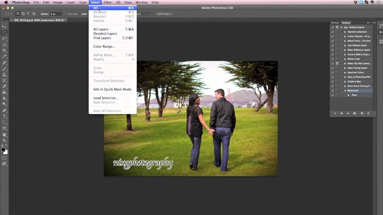 Great tutorial on how to watermark both horizontal and