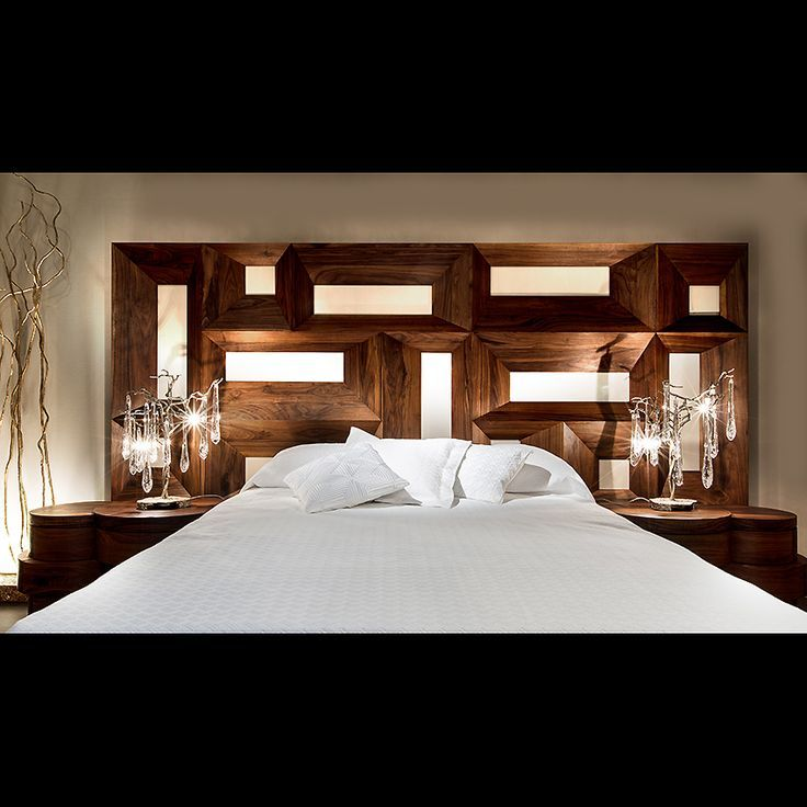 Extravagant Grand Bed Headboard Carved In Solid Walnut Wood With Bold  Architectural Style. Available As Pictured In Natural Oiled Walnut.