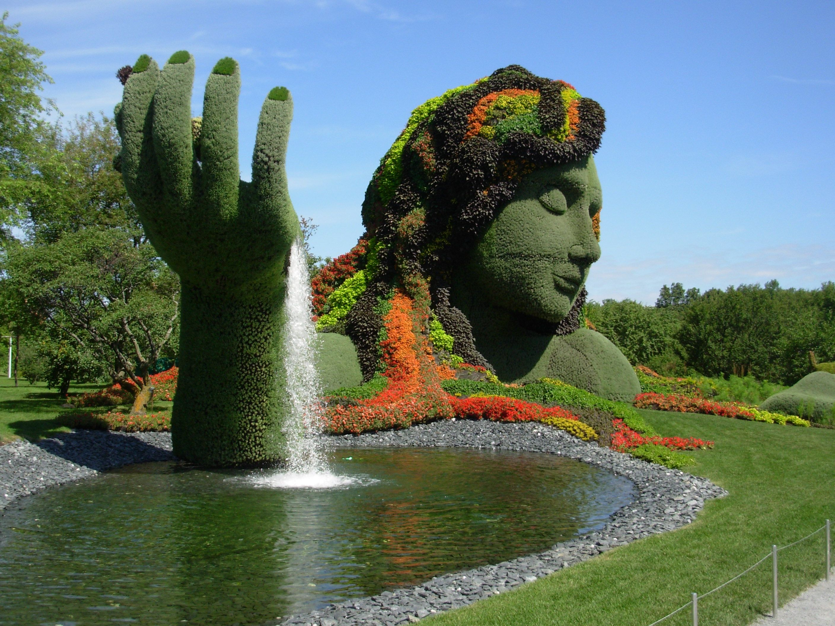 Not your average topiary mother earth at the montreal botanical not your average topiary mother earth at the montreal botanical gardens http publicscrutiny Image collections