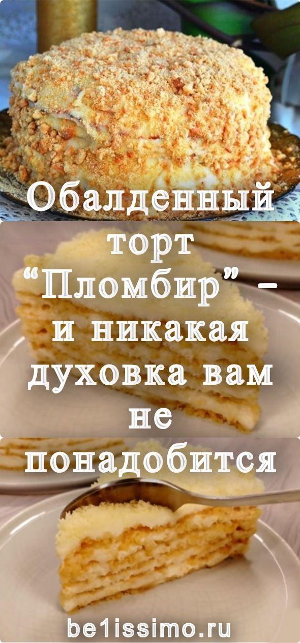 Obaldennyj Tort Plombir I Nikakaya Duhovka Vam Ne Ponadobitsya